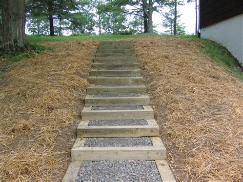 Outdoor Wooden Stairs & Pathways by Eleanor Robichaud on