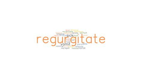 REGURGITATE: Synonyms and Related Words