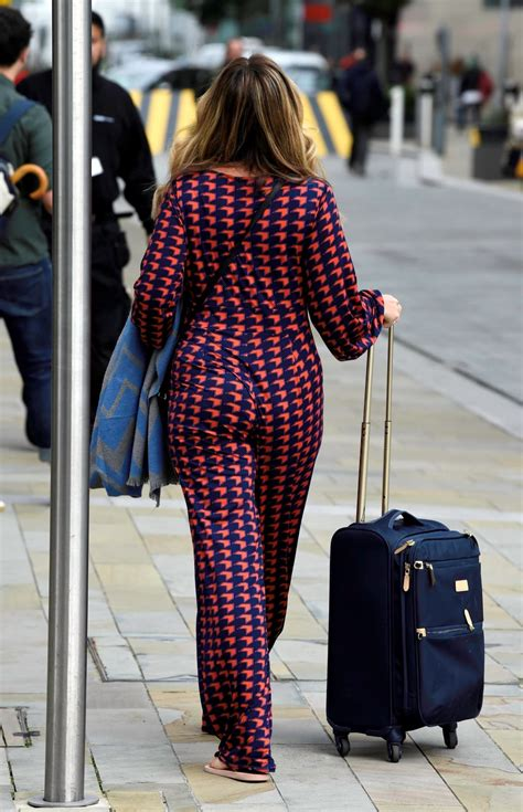 CLAIRE SWEENEY Leaves BBC Breakfast Studios in Manchester
