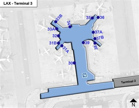 Los Angeles Airport LAX Terminal 3 Map