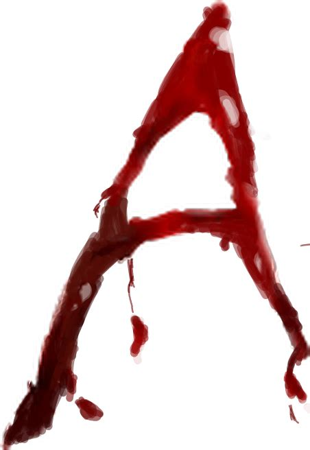 blood bloody alphabet letter writing a