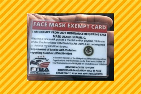 Is This a Valid Face Mask Exemption Card?