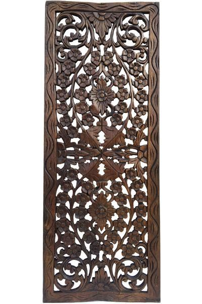 Floral Wood Carved Wall Panel