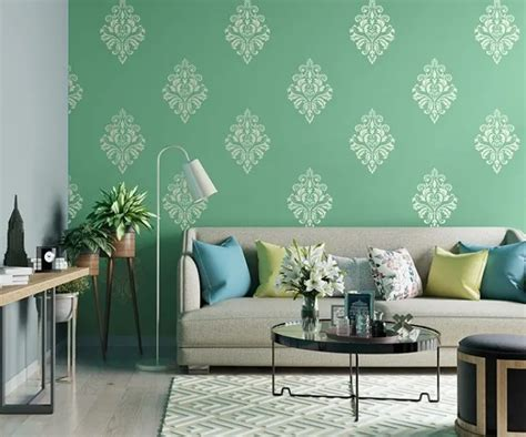 stencil-room-shot-asian-paints-rich-tapestry   Living room
