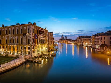 Evening Time At Grand Canal,venice, Italy Wallpaper Hd