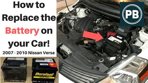 How to Replace the Battery on your Car!   Nissan Versa