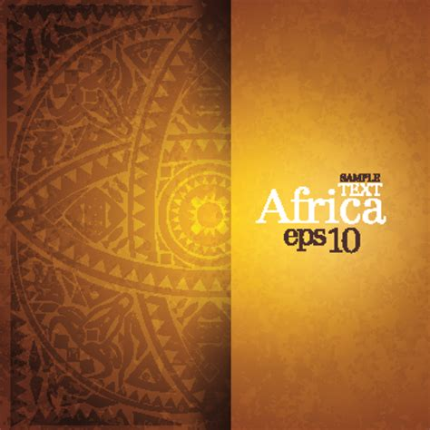 African style elements background vector set 03 free download