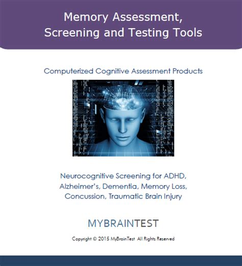 Cognitive Screening Product Guides   MyBrainTest