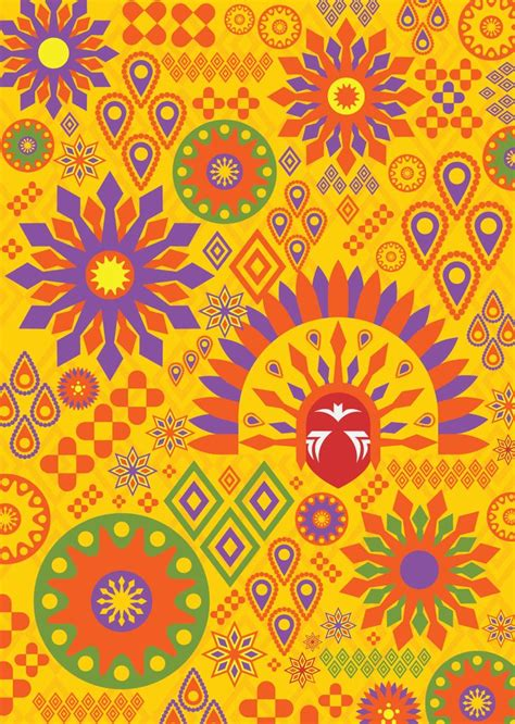 A patterned illustrations of Philippine Festivals