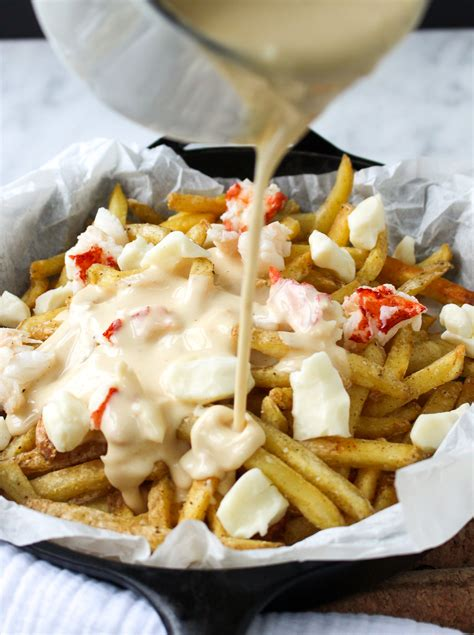 Lobster Poutine with Brown Butter Cheese Sauce